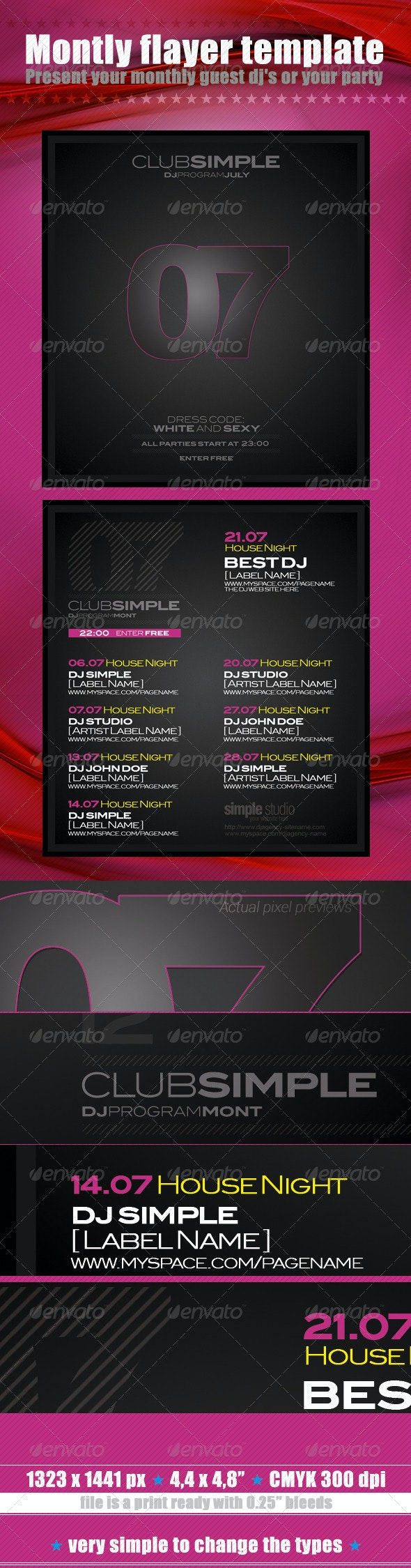 07 Montly Flayer Template - Clubs & Parties Events