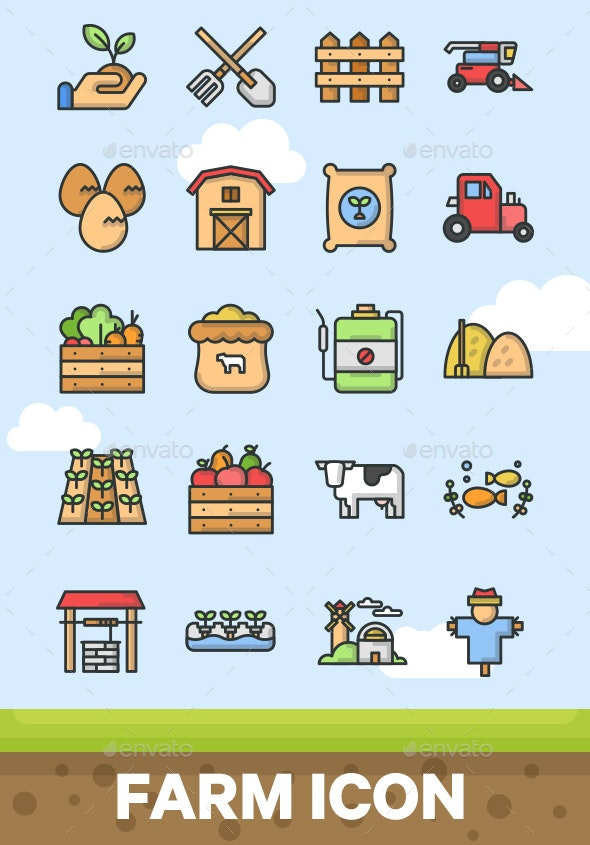 20 Farm Icon - Miscellaneous Icons