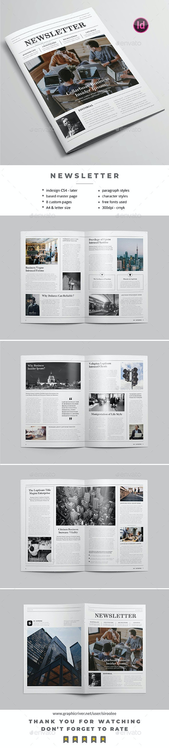 Simply Neswletter - Newsletters Print Templates