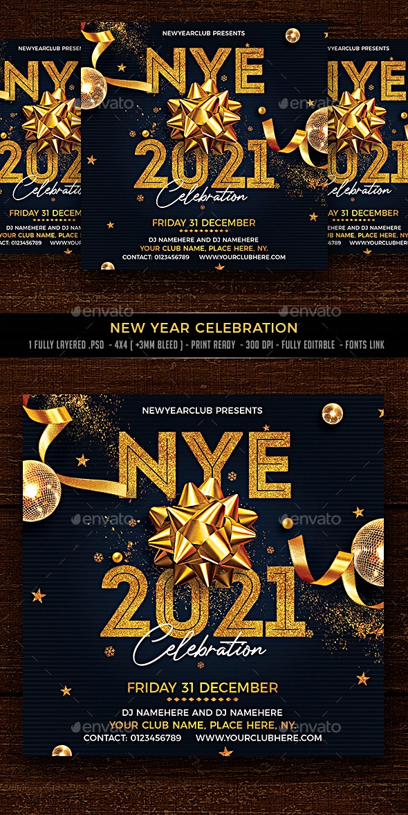 New Year Celebration - Events Flyers
