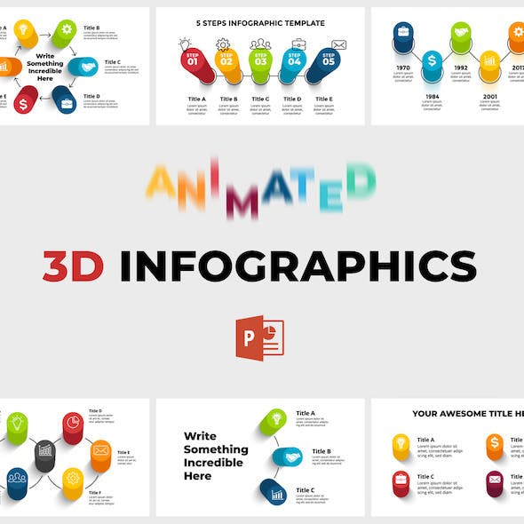 3D Infographics Pack. PowerPoint Presentation