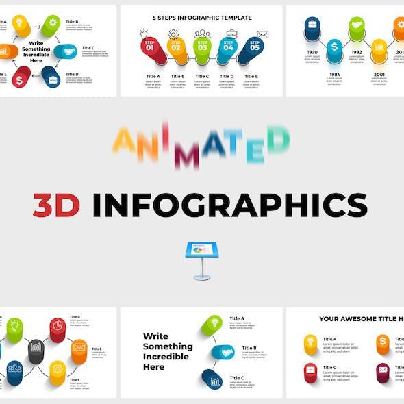 3D Infographics Pack. Keynote Presentation