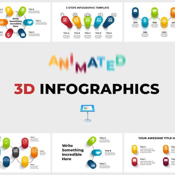 3D Infographics Pack. Keynote Presentation - Keynote Templates Presentation Templates