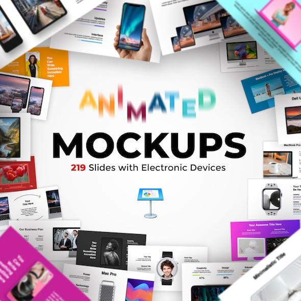 2 in 1. 331 Animated Mockups + Diagrams. Keynote Presentation.