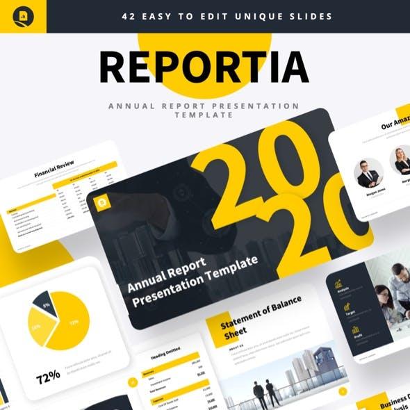 Reportia - Annual Report Keynote Template