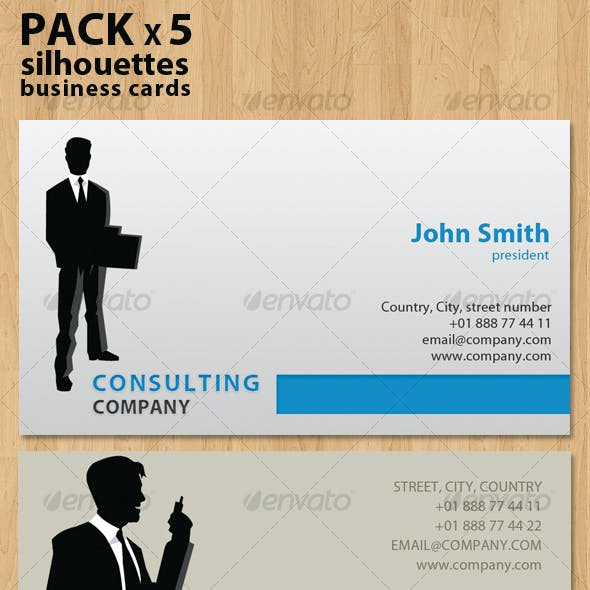 Silhouettes Business Cards very flexible