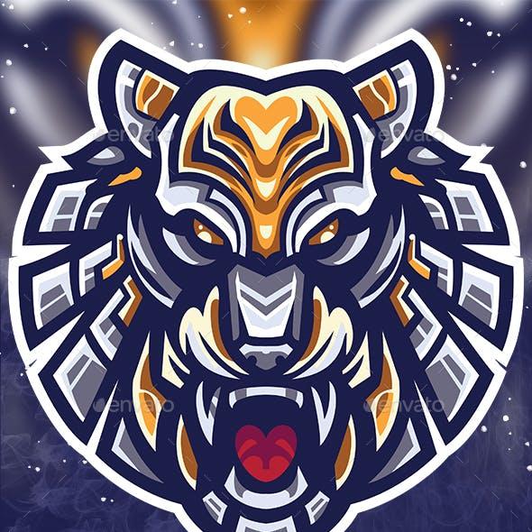 Cyber Tiger Esport logo gaming template