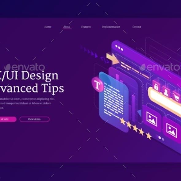 Ui Ux Design Advanced Tips Isometric Landing Page