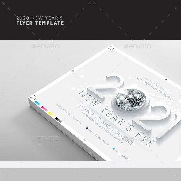 2021 New Year's Flyer Template