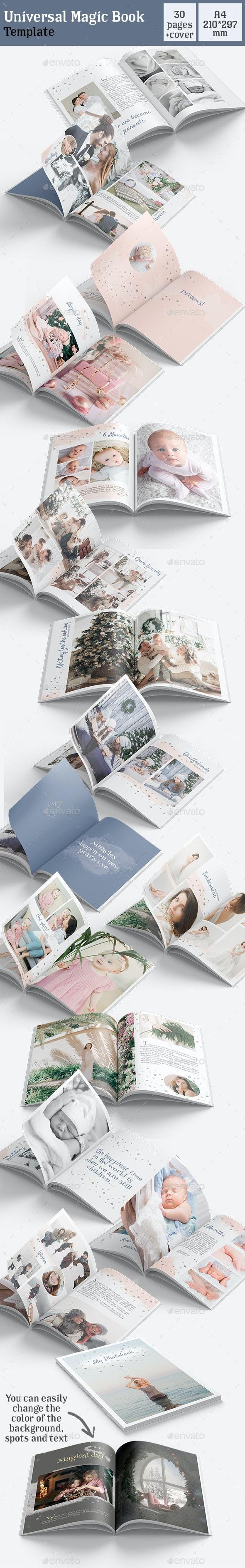 Universal Magic Book Template - Photo Albums Print Templates