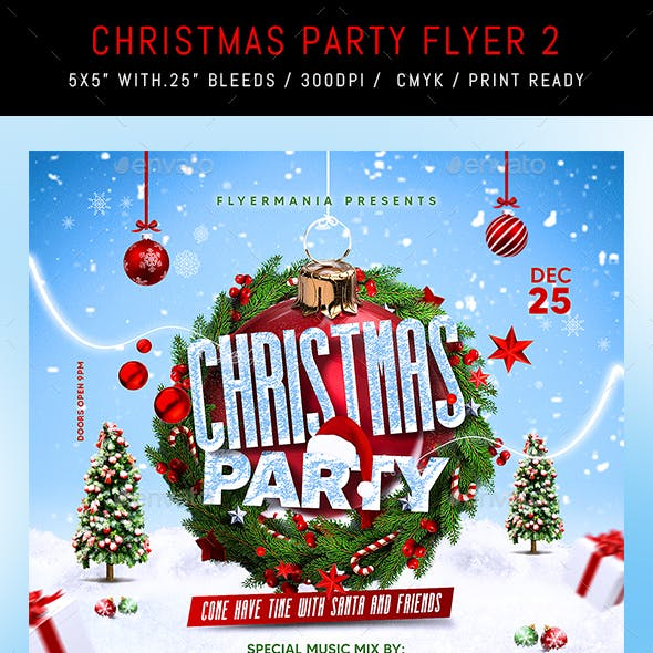 Christmas Party Flyer 2