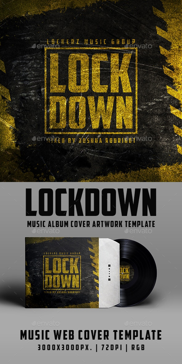 Lockdown - Music Album Urban Grunge Cover Artwork Template - Miscellaneous Social Media
