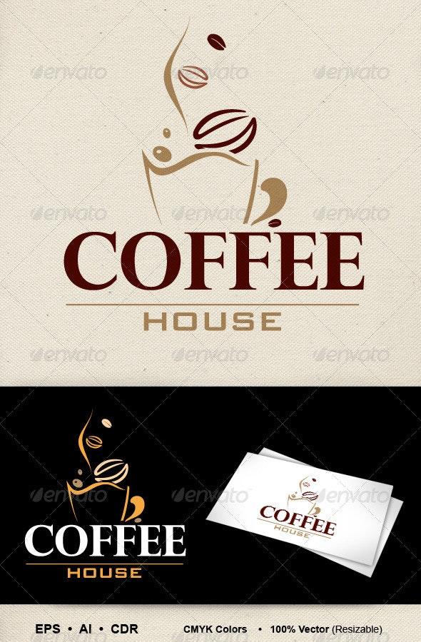 Coffee House Logo - Food Logo Templates