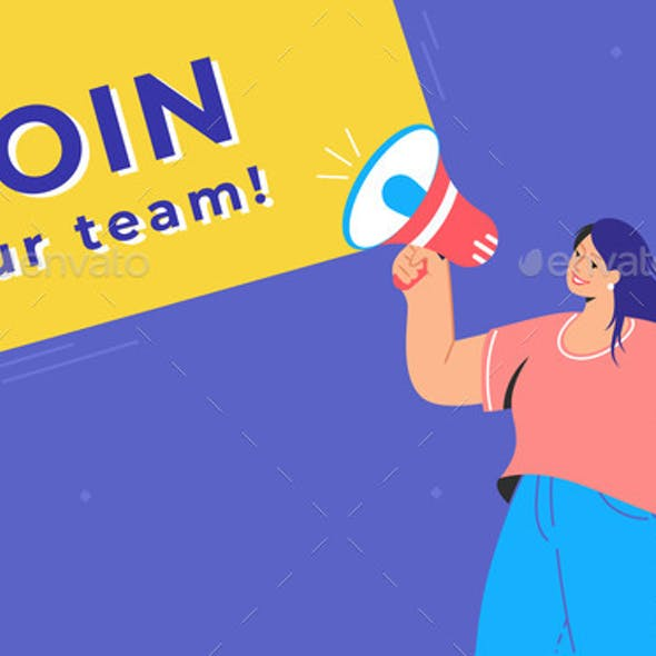 Join Our Creative Team Concept Illustration