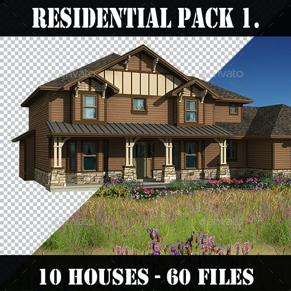 Residential Houses Pack 1.