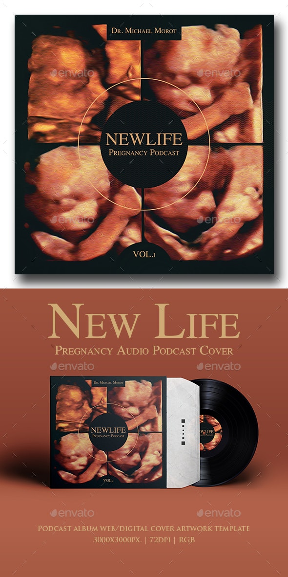 New Life Pregnancy Audio Podcast Album Cover Template - Miscellaneous Social Media