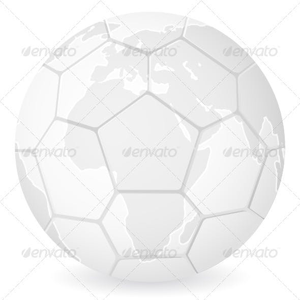 World map soccer ball