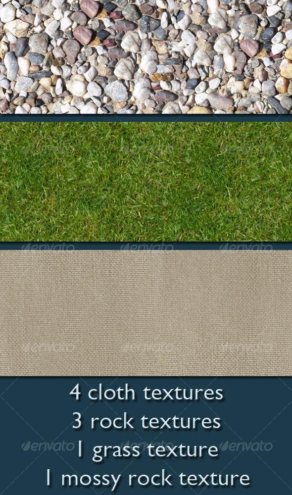 9 Seamless Ground & Cloth Textures - Miscellaneous Textures