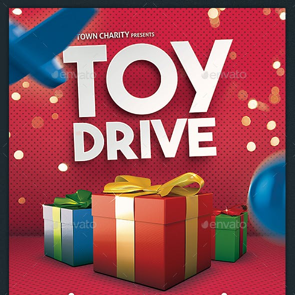 Toy Drive Flyer Holiday Donations Template
