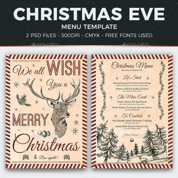 Christmas Menu Template V8