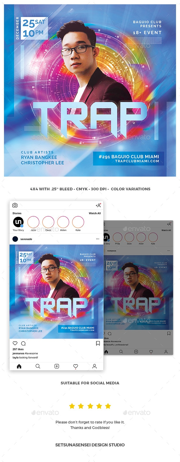 Trap Flyer - Clubs & Parties Events
