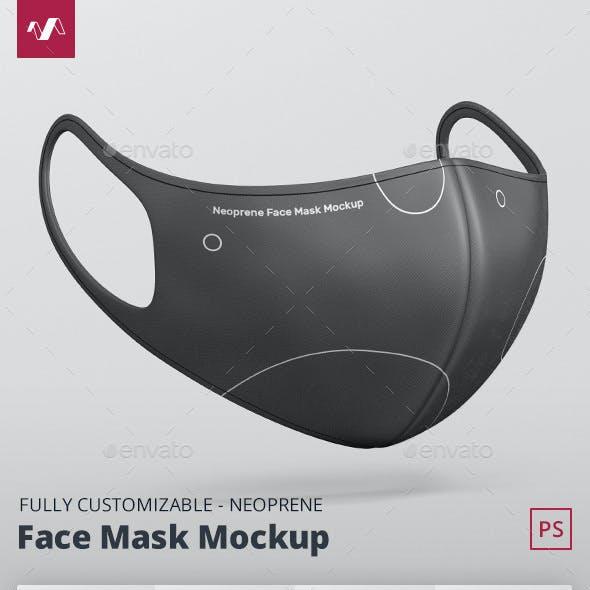 Face Mask Mockup Neoprene