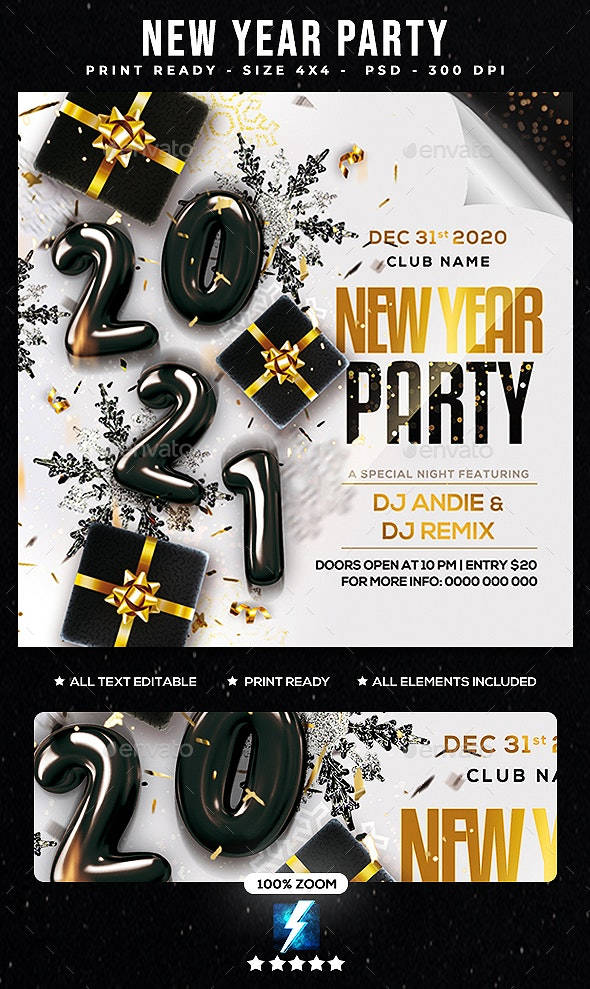 2021 New Year Flyer - Clubs & Parties Events