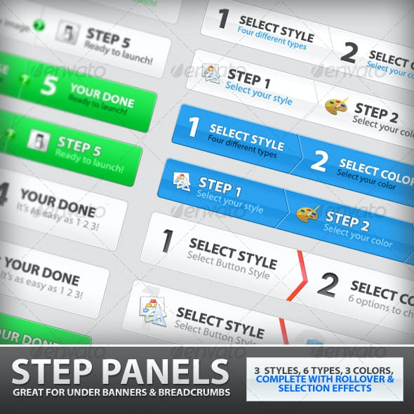 Step Process Panels Mega Set – Over 100 Variations