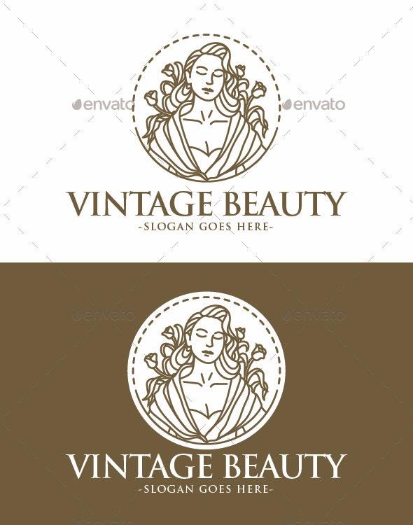 Vintage Beauty Logo - Humans Logo Templates