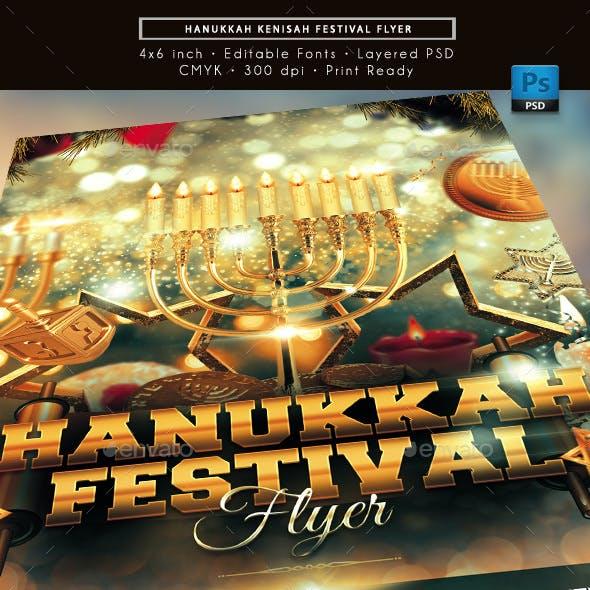 Hanukkah Kenisah Festival Flyer