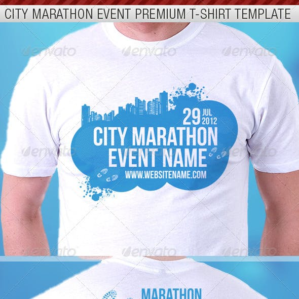 def70de2 City Marathon Event Premium T-Shirt Template