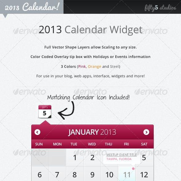2013 Calendar Widget
