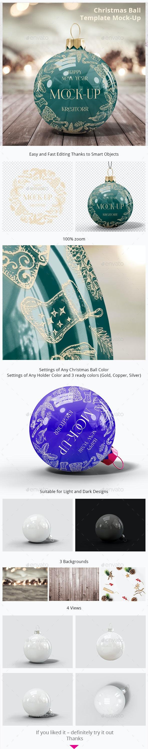 Christmas Ball. Template Mock-Up
