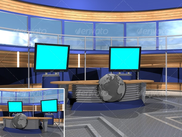 3D-TV_Studio_G - Business Backgrounds