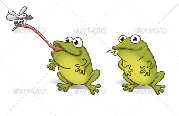 happy frog - Animals Characters