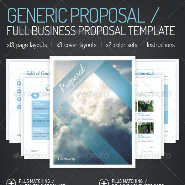 Generic Proposal - Full Business Proposal Template