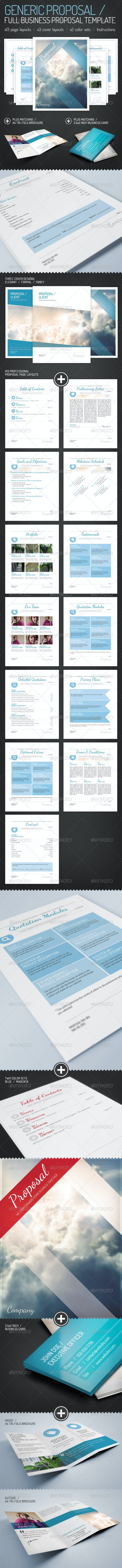 Generic Proposal - Full Business Proposal Template - Proposals & Invoices Stationery