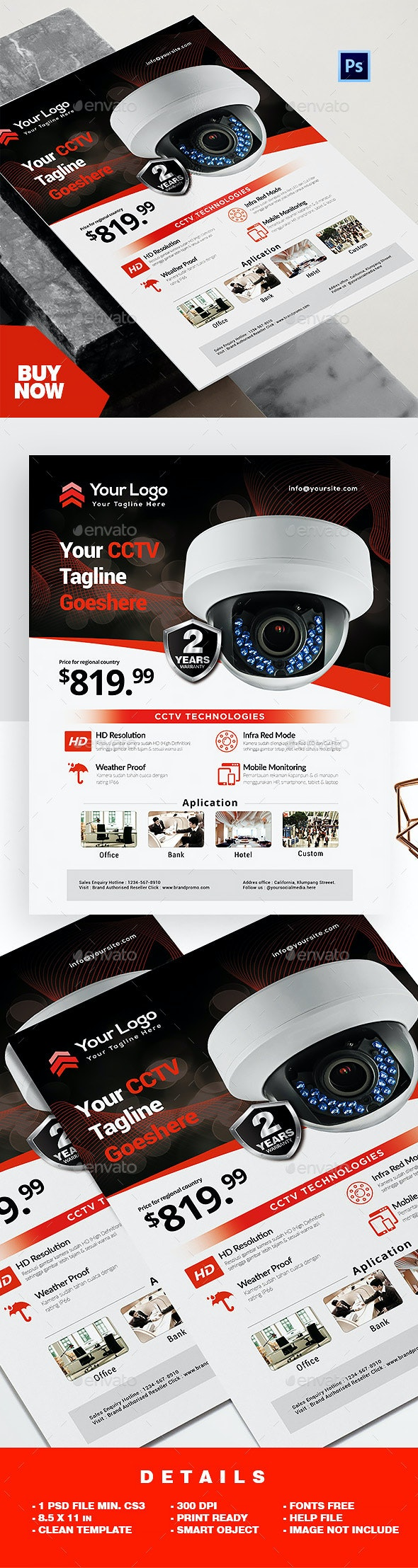 Product Flyer - CCTV - Corporate Flyers