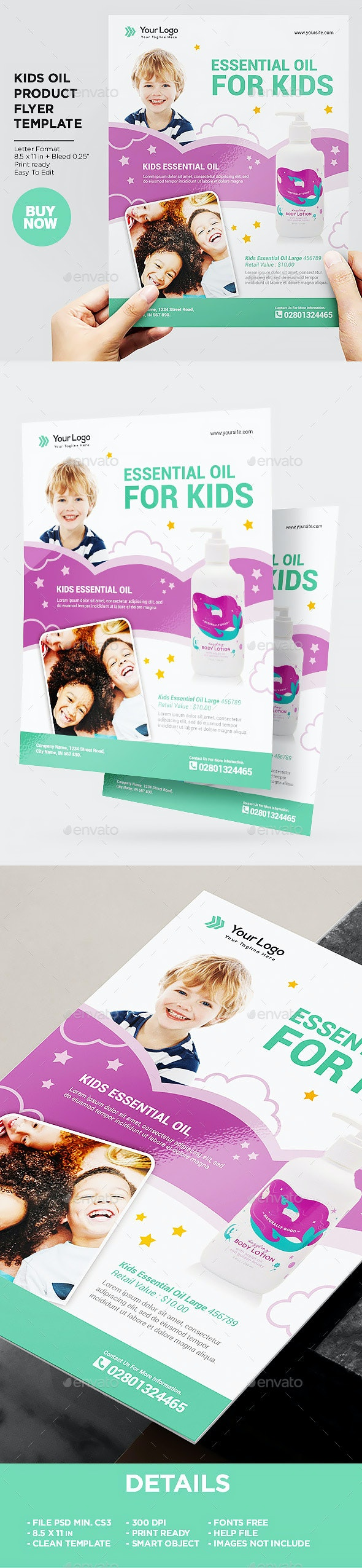 Product Flyer Kids Essential Oil - Commerce Flyers