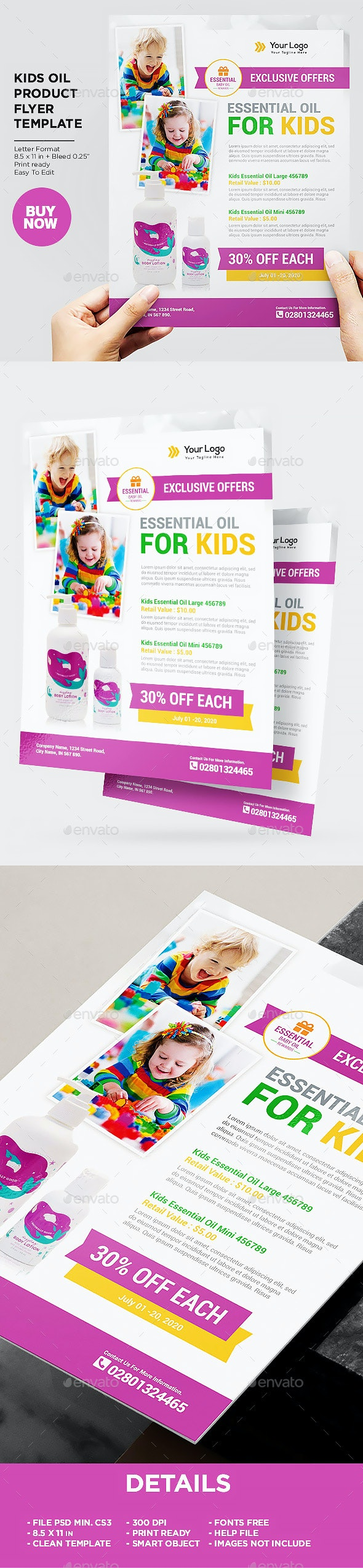 Product Flyer Kids Oil - Commerce Flyers