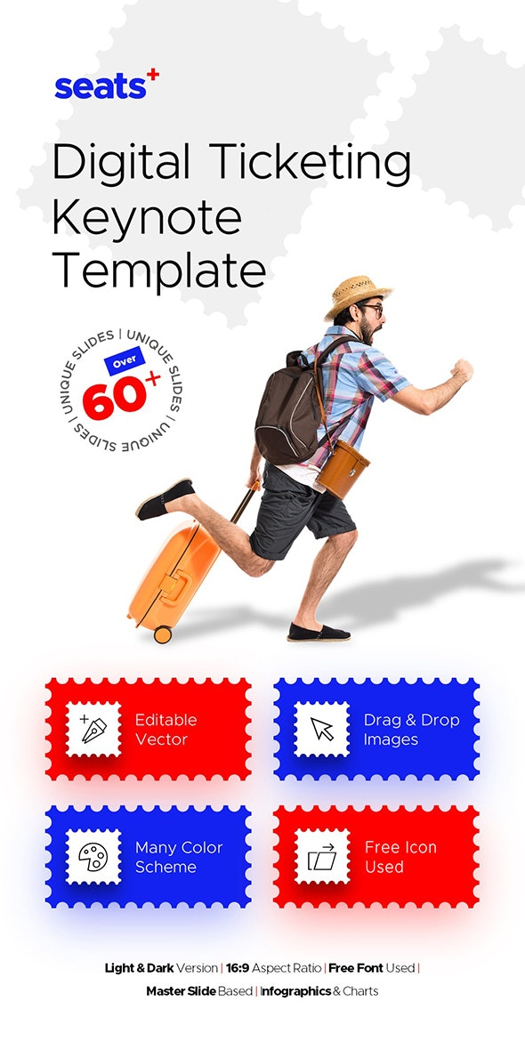 Seats+ Travel Keynote Presentation Template Fully Animated - Business Keynote Templates