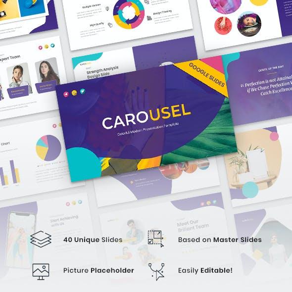 Carousel - Colorful Modern Google Slides Template