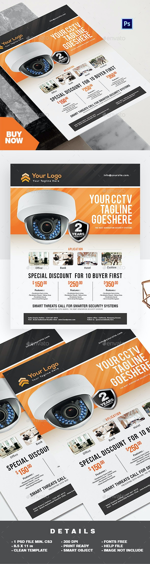 Product Flyer CCTV Promotion - Commerce Flyers