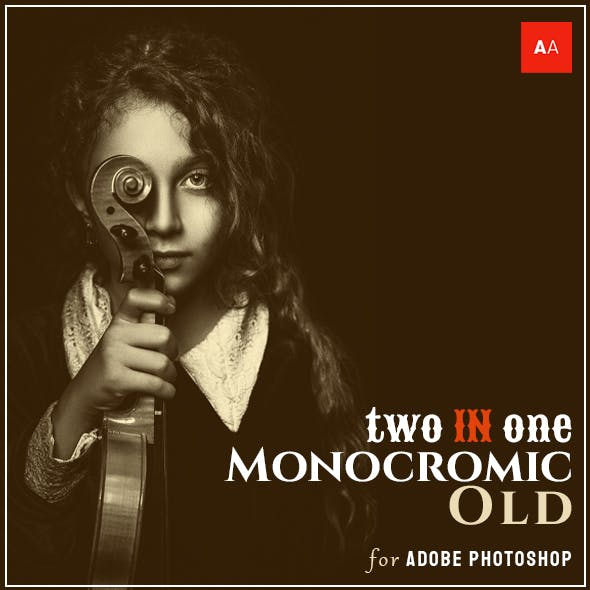 Monocromic Old Photo Effects - Photoshop Action