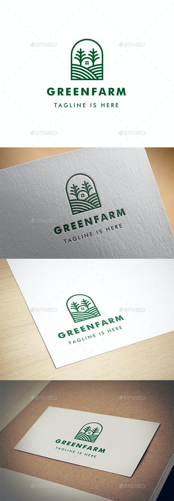 Green Farm Logo - Nature Logo Templates
