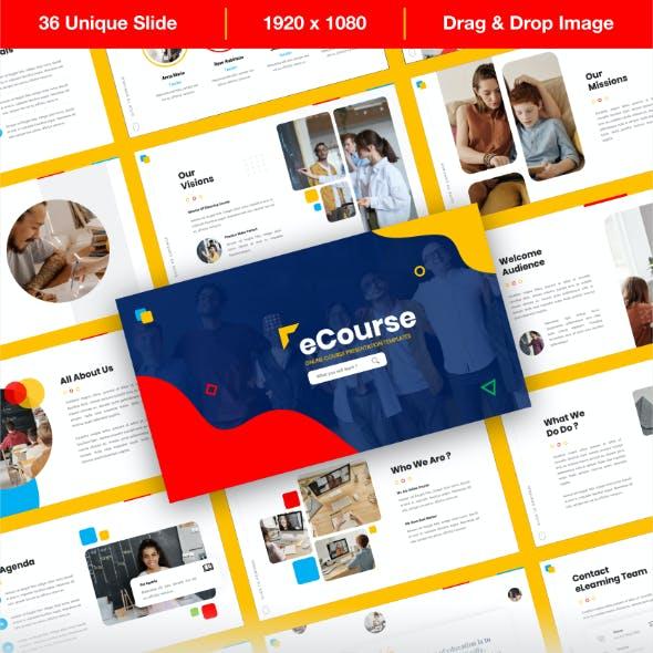 eCourse - Online Course PowerPoint Presentation Template