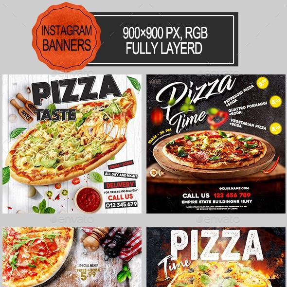 Pizza Restaurant Instagram Banners