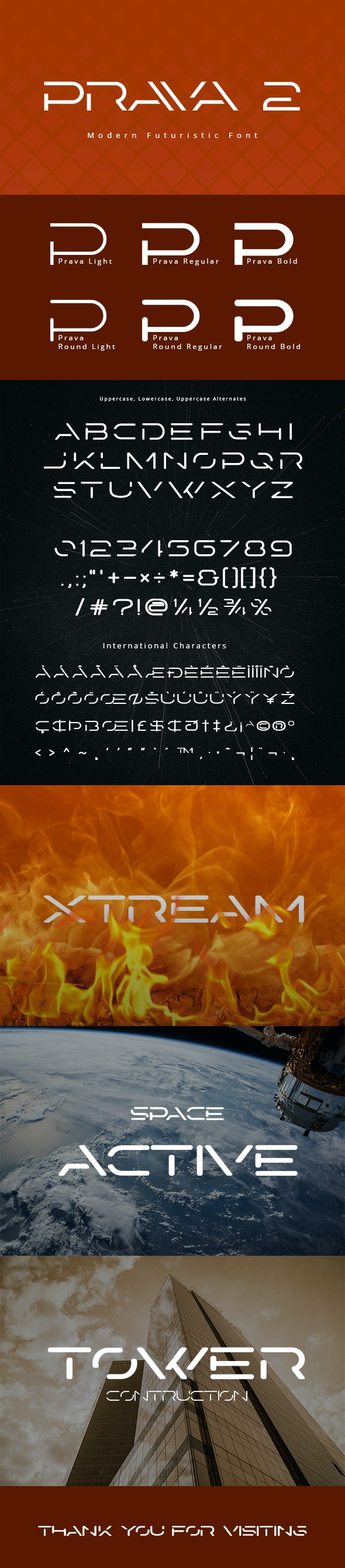 Prava 2 Display Font - Futuristic Decorative