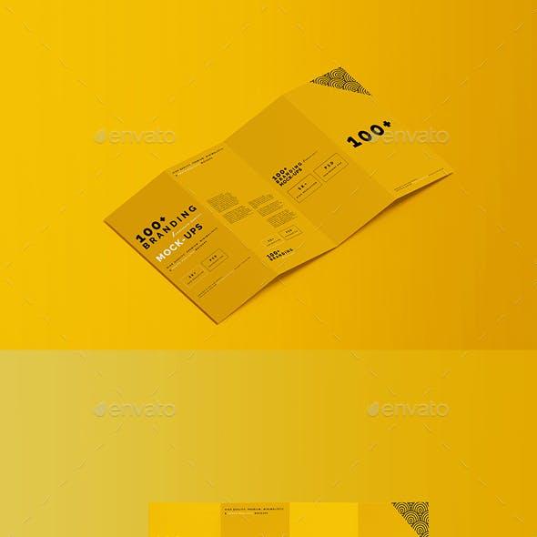 DL Four-Fold Brochure Mockup