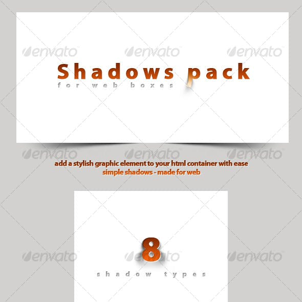 Shadows Pack for Web Boxes!